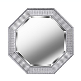 Kenroy Home 34-Inch Octagon Wall Mirror in Galvanized