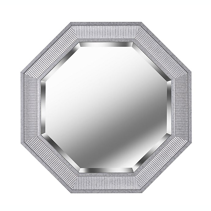 Alternate image 1 for Kenroy Home 34-Inch Octagon Wall Mirror in Galvanized