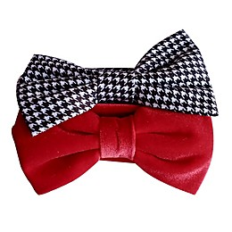 Tiny Treasures™ 2-Pack Plaid and Solid Bow Headbands