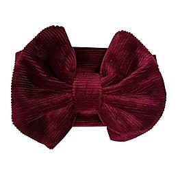 Tiny Treasures™ Cord Large Bow Headband in Burgundy