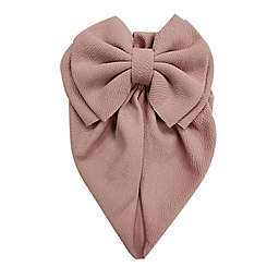 Tiny Treasures™ Newborn Turban Hat with Large Bow in Mauve