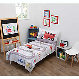 NoJo Road Trip 4-Piece Toddler Bed Set in Grey