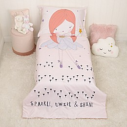 Magical Fairy Pink, 4pc Toddler Bed Set