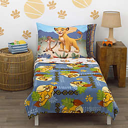 Disney® Lion King Totally Tribal 4-Piece Toddler Bedding Set in Blue
