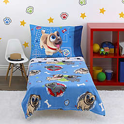 Disney® Puppy Pal Fun 4-Piece Toddler Bed Set in Blue