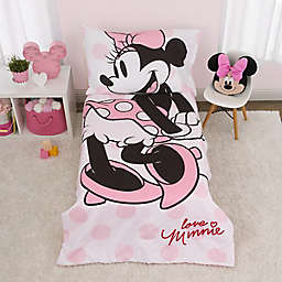 Disney® Minnie Mouse 4-Piece Toddler Bedding Set in Pink