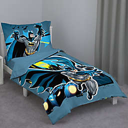 DC Comics™ Batman 4-Piece Toddler Bedding Set in Blue/Yellow