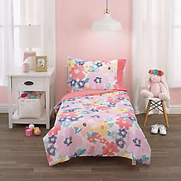 Carter's Pink, Floral 4pc Toddler Bed Set
