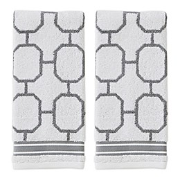 Vern Yip by SKL Home Lithgow Hand Towels in Grey (Set of 2)