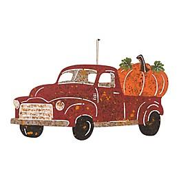 Glitzhome® 21.85-Inch Rusty Truck Yard Stake in Orange