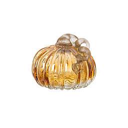 Glitzhome® 4.72-Inch Crackle Glass Short Pumpkin Decoration in Amber