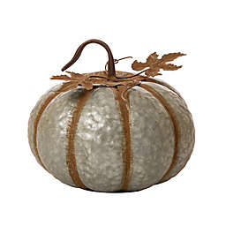 Glitzhome® 12-Inch Galvanized Round Pumpkin Decoration