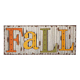"Glitzhome® 14.5-Inch ""Fall"" Metal Wall Sign in Yellow"