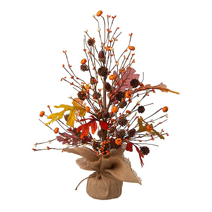 Alternate image 1 for Glitzhome® 20-Inch Harvest Tabletop Tree Decoration in Orange