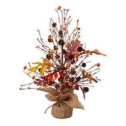 Glitzhome® 20-Inch Harvest Tabletop Tree Decoration in Orange