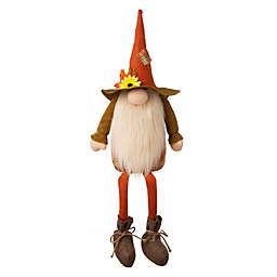 Glitzhome® Gnome Shelf Sitter Decoration in Orange