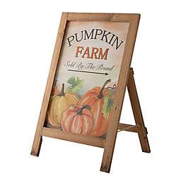 """Glitzhome® 24-Inch """"Pumpkin Farm"""" Porch Sign in White"""