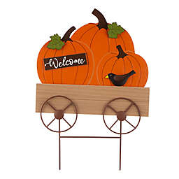 Glitzhome® 26-Inch Pumpkin Scarecrow Yard Sign in Orange