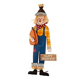 Glitzhome® 36-Inch Scarecrow Yard Stake in Blue
