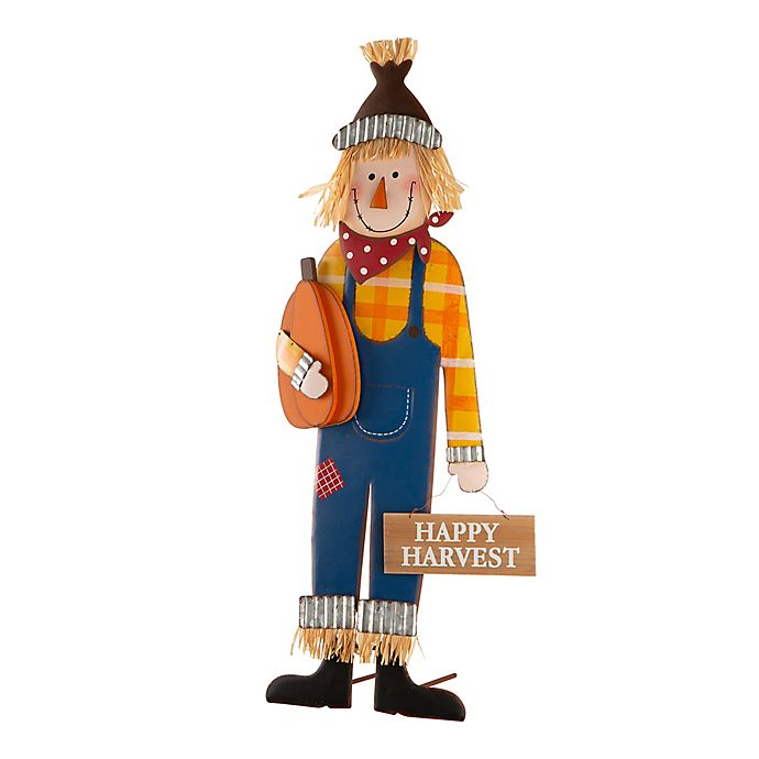 Alternate image 1 for Glitzhome® 36-Inch Scarecrow Yard Stake in Blue