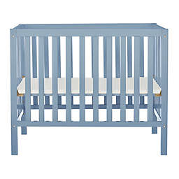 Dream On Me Edgewood 4-in-1 Convertible Mini Crib in Dusty Blue