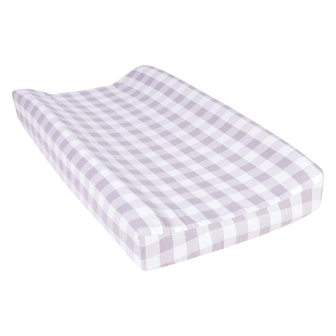 Alternate image 1 for Trend Lab® Buffalo Check Flannel Changing Pad Cover in Grey