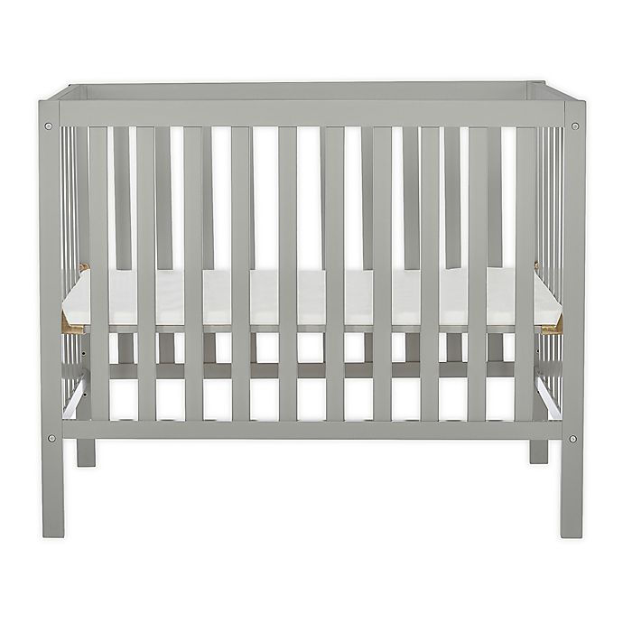 Alternate image 1 for Dream On Me Edgewood 4-in-1 Convertible Mini Crib in Cool Grey