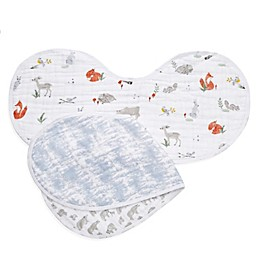 aden + anais® 2-Pack Naturally Burpy Bibs in Grey