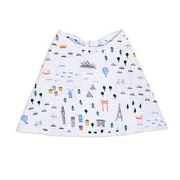 aden + anais essentials® World Burpy Bib in White/Blue