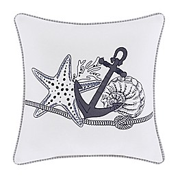J. Queen New York™ Shore 20-Inch Square Throw Pillow in Ivory