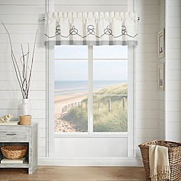 J. Queen New York™ Shore Straight Window Valance in Ivory
