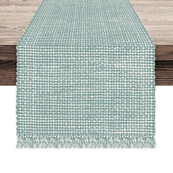 Alternate image 1 for Homewear Homespun 108-Inch x 108-Inch Square Table Runner in Sage