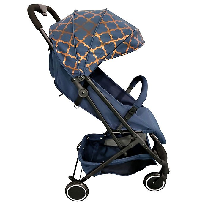 Alternate image 1 for Your Babiie MAWMA By Snooki Soho Compact Travel Stroller in Navy
