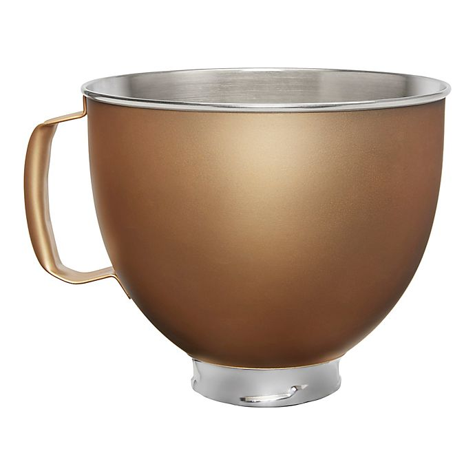Alternate image 1 for KitchenAid® 5 qt. Metallic Stainless Steel Bowl in Gold