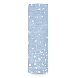 aden + anais® Rising Star Swaddle Blanket in Blue