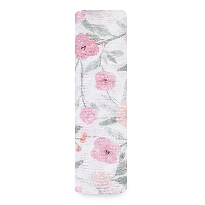 Alternate image 1 for aden + anais® Mon Fleur Swaddle Blanket in Pink