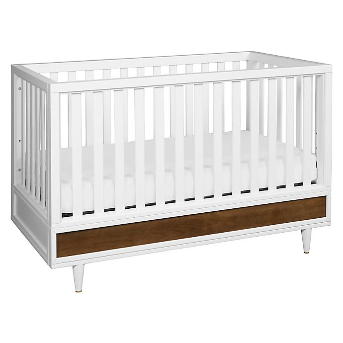 Alternate image 1 for Babyletto Eero 4-In-1 Crib in White/Walnut