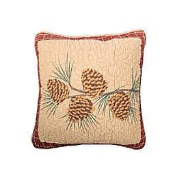 """Donna Sharp® Pine Lodge """"Pine Cone"""" Square Throw Pillow in Beige"""
