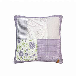 Donna Sharp Lavender Rose Square Throw Pillow in Purple