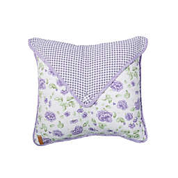 Donna Sharp Lavender Rose Oblong Throw Pillow in Purple
