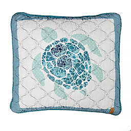 Donna Sharp Summer Surf Sea Turtle Square Throw Pillow in Green
