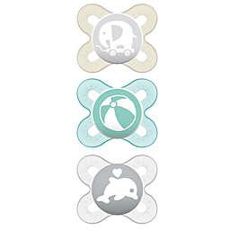 MAM Start Newborn 3-Pack Pacifiers in Grey/Tan