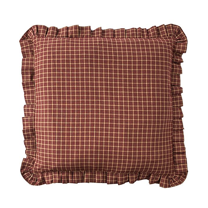 Alternate image 1 for Donna Sharp® Campfire Plaid European Pillow Sham in Red