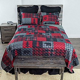 Donna Sharp Red Forest 3-Piece Reversible Quilt Set