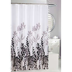Moda 71-Inch x 71-Inch Wind Dance Shower Curtain in White/Black