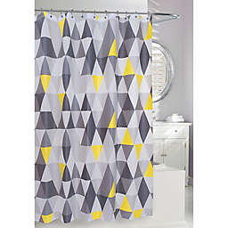 Moda 71-Inch x 71-Inch Triangles Shower Curtain