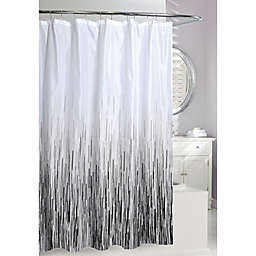 Moda Greyscale Shower Curtain in White/Black