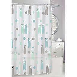 Moda 70-Inch x 72-Inch Happy Bears Shower Curtain
