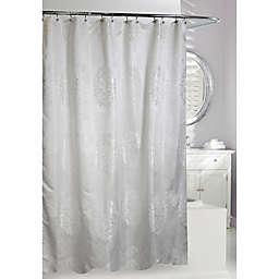 Moda 71-Inch x 71-Inch Victoria Shower Curtain in White