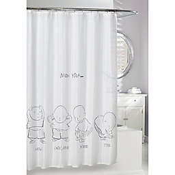 Moda at Home Head and Shoulders PEVA Shower Curtain